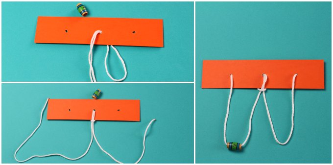 DIY string and bead puzzle step by step instructions.