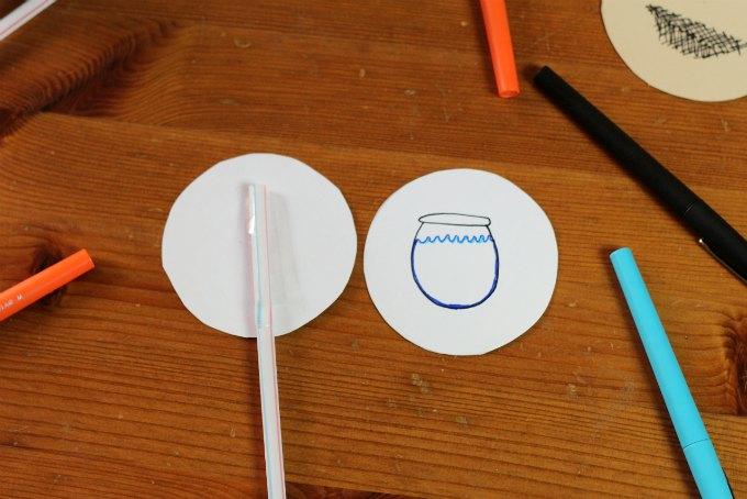 Putting together a thaumatrope