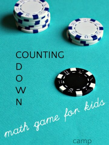 Counting game to teach backwards counting in preparation for subtraction.