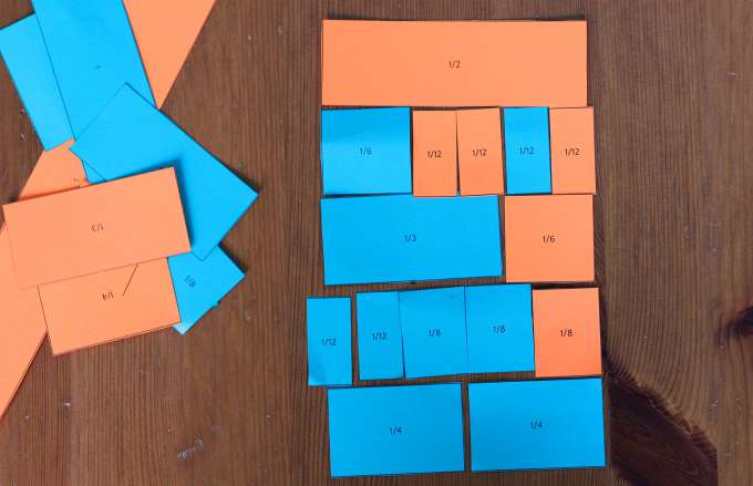 Fraction games for kids. Making halves.