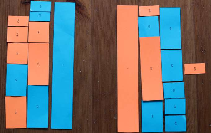 Fraction games to make wholes out of parts.