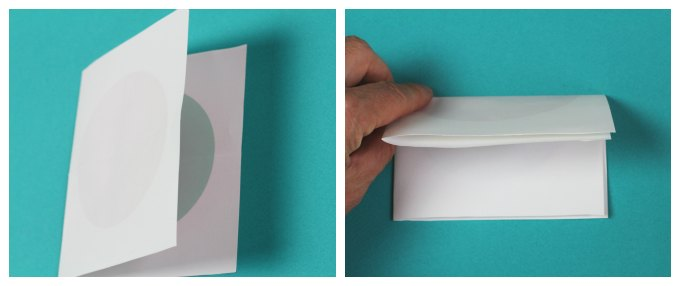 How to fold the symmetry paper trick.