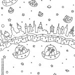 Space Alien Coloring Page