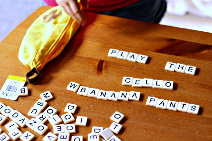 Play Bananagrams for literacy fun.