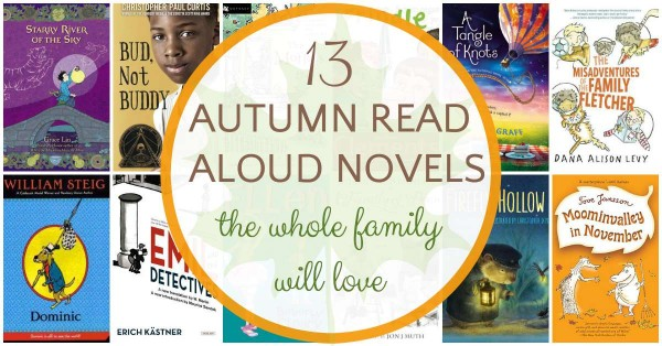 Fall read aloud chapter books for the whole family to enjoy.