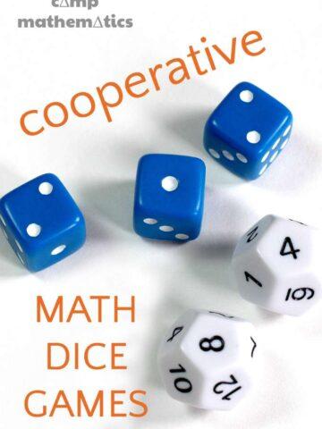 Math dice games for kids. Make math fun.