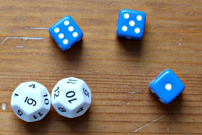 Play dice games to learn math.