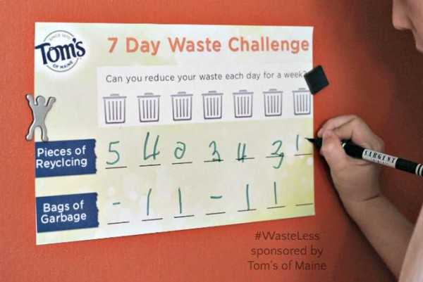Tracking recyclables and trash to reduce reuse and recycle and waste less with kids.