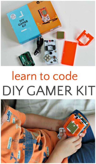 Learn to code and design your own games with a DIY Gamer Kit.