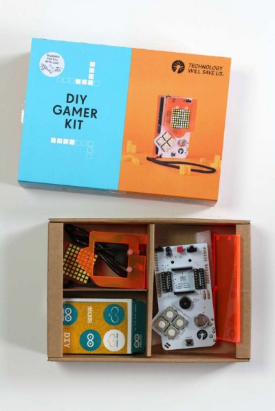 DIY Gamer Kit for kids helps them learn to code and is tons of fun.