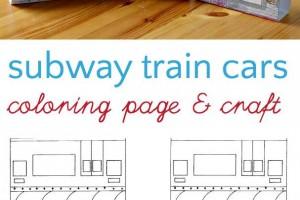 Subway Train Coloring Page