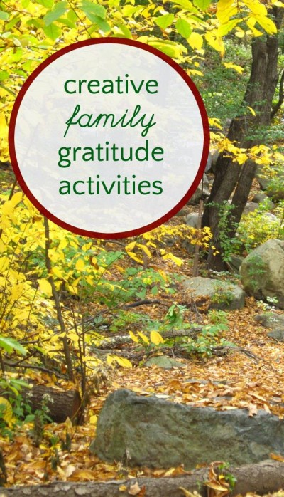 12 gratitude activities for kids and parents. Thought ways to practice family thankfulness.