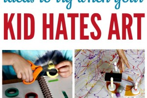 """12+ Ideas for Reluctant Artists (Or, What to Try When Your Kid """"Hates Art"""")"""