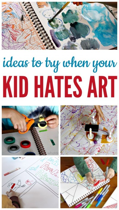Creative ideas for kids who say they don't like art.