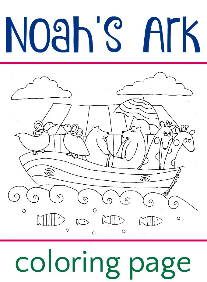 Noah 39 s ark coloring page for Noah s ark printable coloring pages