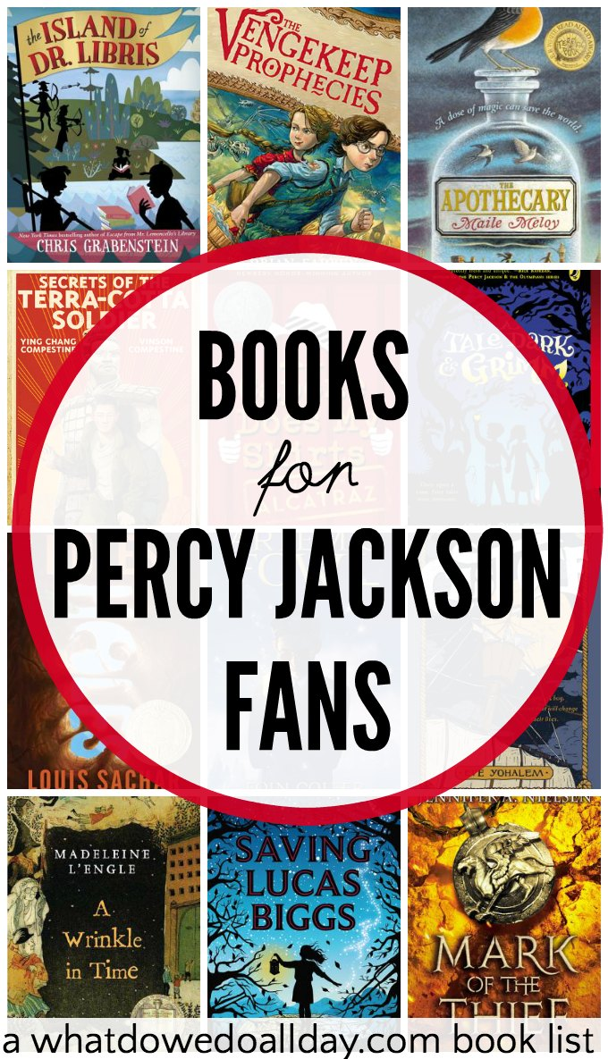 20 thrilling books for kids who like percy jackson