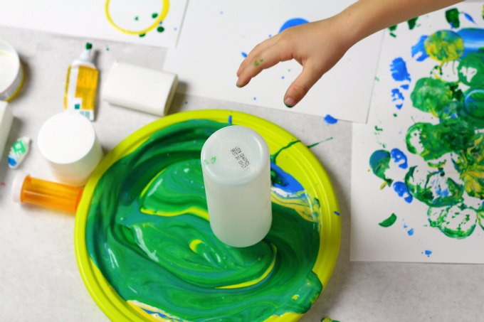 Paint printing with recyclable materials.