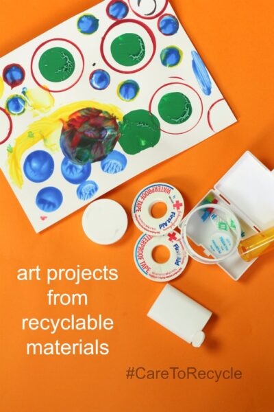 Make groovy art from recycled materials.