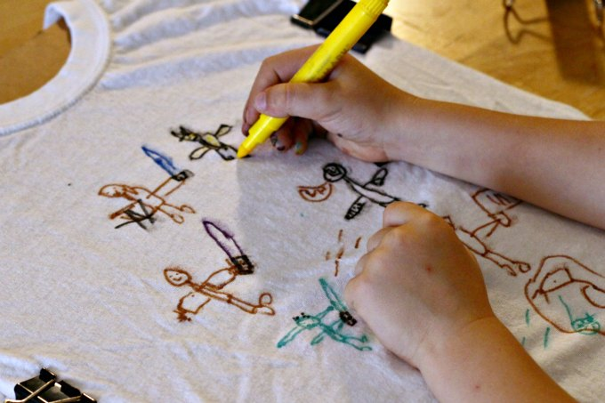Does your kid hate art? Try making a t shirt.