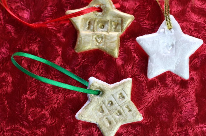 DIY clay ornaments for kids to make at home.