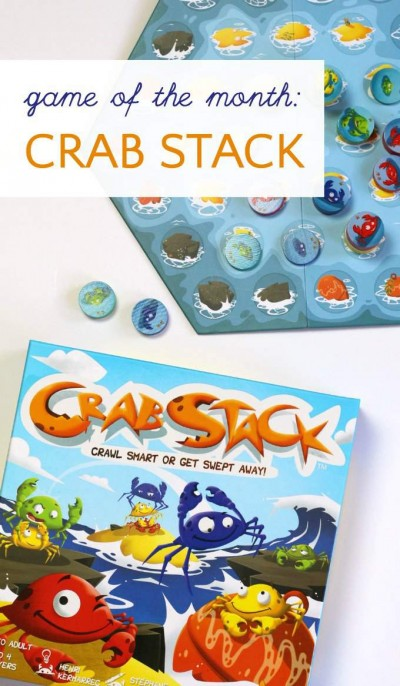 Crab Stack board game is a fun family game and a good early strategy learning game for kids.
