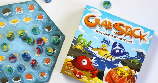 Crab Stack by Blue Orange Games is a fun game with light strategy and engages kids' problem solving skills.