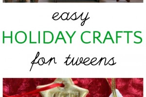 Easy Christmas crafts that tweens can do on their own. Fun for the holidays.