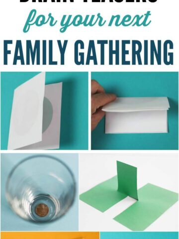 16 fun brain teasers for kids to do at family gatherings and stump the grownups.