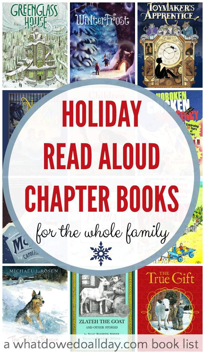16 Holiday read aloud chapter books that everyone in the family will enjoy. These are great books!