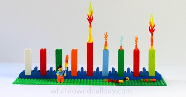 LEGO Menorah for kids.