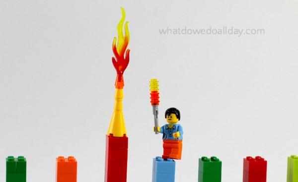 Light the Hanukkah LEGO menorah.