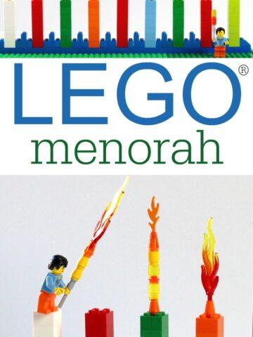 How to make a LEGO menorah for Hanukkah