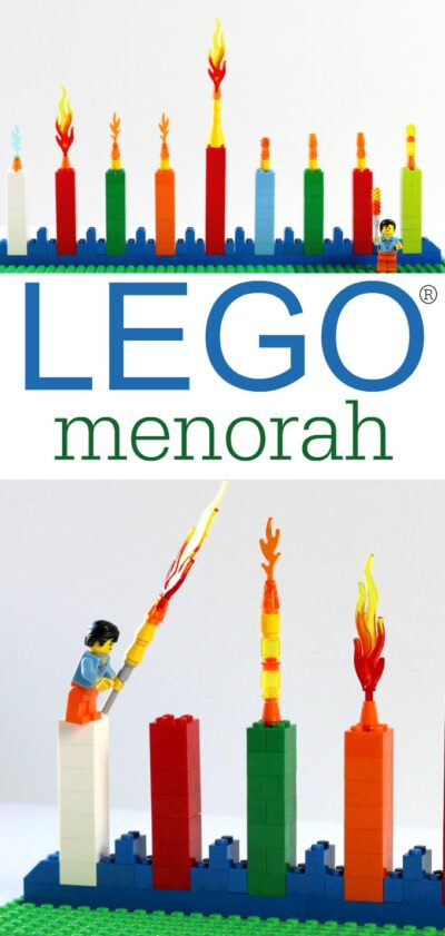 How to make a simple LEGO Menorah