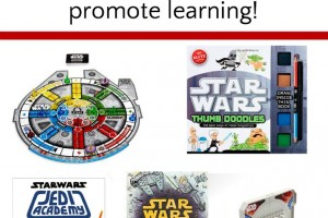 Star Wars gifts for kids. Books, games, toys and crafts that also promote learning for your Star Wars fan!