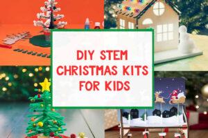 diy stem christmas kids