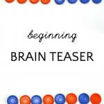 Quick Brain Teaser Puzzle For Kids (and Grown-Ups)