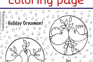 Holiday Ornament Coloring Page