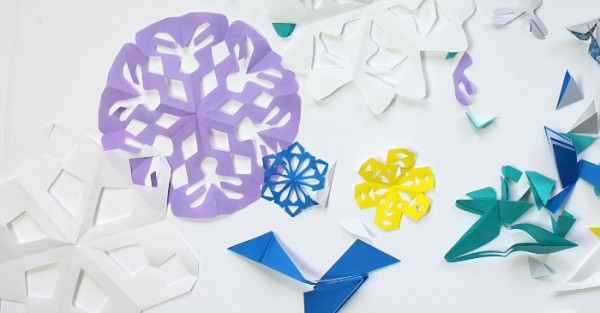 Ideas for what to do with paper snowflakes