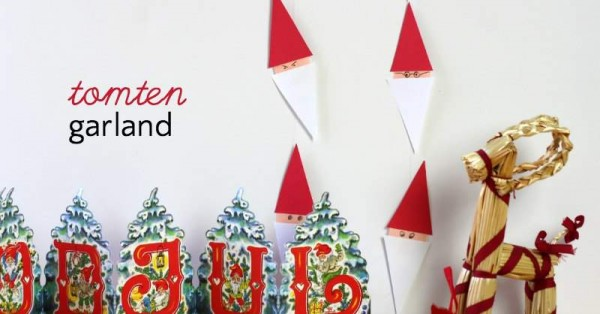 How to make a tomten garland for a very Swedish Christmas