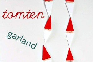 Easy Swedish Tomten Garland