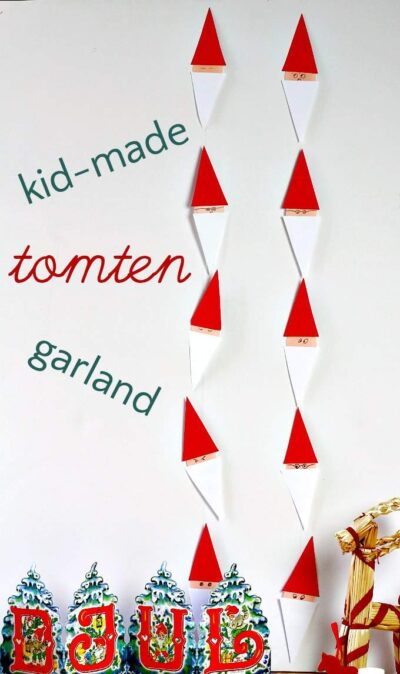 Have a very Swedish Christmas with a easy to make tomten garland.