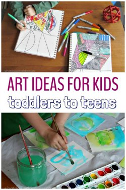 Art activities and easy craft ideas for kids ages toddlers to tweens..