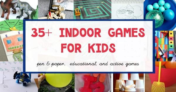 Fun indoor games for kids.