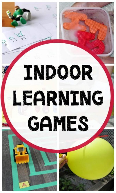Fun indoor educational games for kids that keep them learning and having fun when stuck inside.