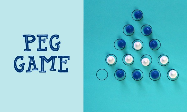 Play peg solitaire at home with this free printable.