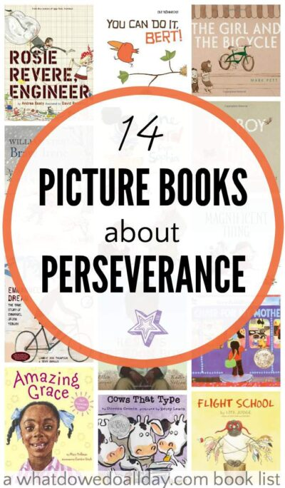 Picture books about perseverance and determination for kids