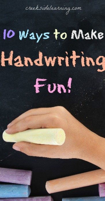 Tips for making handwriting practice fun for kids.