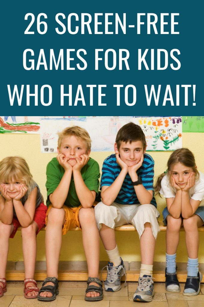 20 games for kids who hate to wait. Can be played anywhere anytime