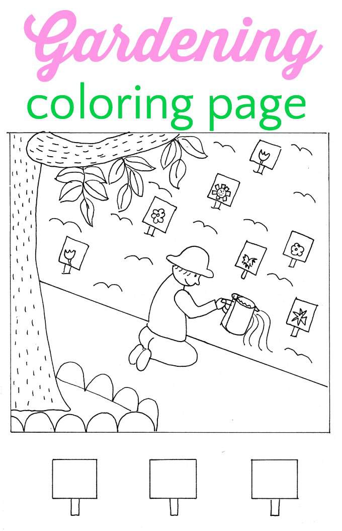 garden coloring pages games online - photo#10