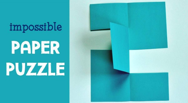 Fun and impossible paper puzzle for all ages.